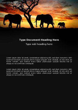 Savanna Word Template, Cover Page, 03506, Nature & Environment — PoweredTemplate.com
