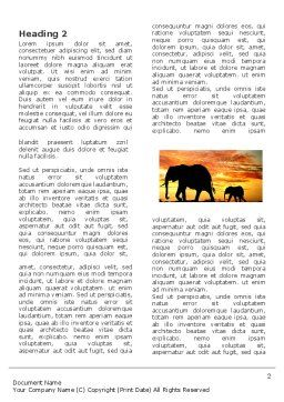 Savanna Word Template, First Inner Page, 03506, Nature & Environment — PoweredTemplate.com