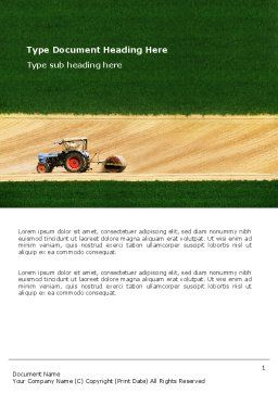 Tractor Word Template Cover Page