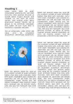 Blowball Word Template, First Inner Page, 03508, Nature & Environment — PoweredTemplate.com