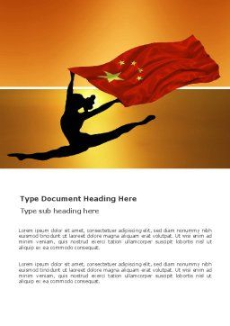 Olympiad in China Word Template, Cover Page, 03511, Sports — PoweredTemplate.com