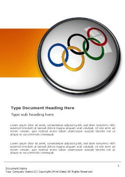 Olympic Symbol Word Template, Cover Page, 03512, Sports — PoweredTemplate.com