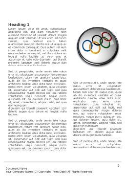 Olympic Symbol Word Template, First Inner Page, 03512, Sports — PoweredTemplate.com