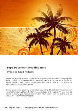 Tropic Word Template, Cover Page, 03513, Nature & Environment — PoweredTemplate.com
