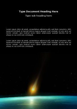 Meteor Word Template, Cover Page, 03514, Nature & Environment — PoweredTemplate.com