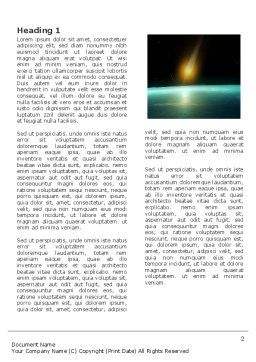 Meteor Word Template, First Inner Page, 03514, Nature & Environment — PoweredTemplate.com