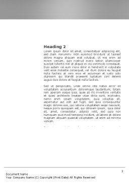 Waiting Opportunity Word Template, Second Inner Page, 03515, Business — PoweredTemplate.com