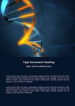 Genes In DNA Word Template, Cover Page, 03516, Medical — PoweredTemplate.com