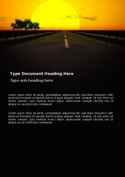 Sunset Highway Word Template, Cover Page, 03518, Construction — PoweredTemplate.com