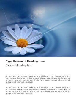 Daisy Wheel Word Template, Cover Page, 03519, Nature & Environment — PoweredTemplate.com