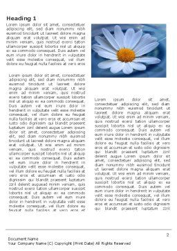 Daisy Wheel Word Template, First Inner Page, 03519, Nature & Environment — PoweredTemplate.com