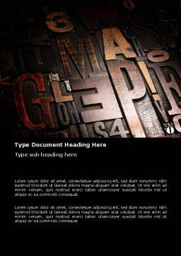 Typefaces Word Template, Cover Page, 03520, Careers/Industry — PoweredTemplate.com