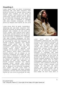 Believer Word Template, First Inner Page, 03521, Religious/Spiritual — PoweredTemplate.com