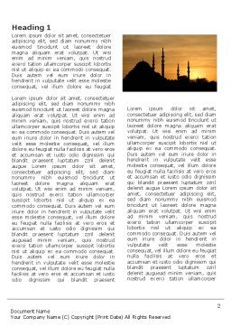 Silhouette Of Mosque On The Sunset Word Template, First Inner Page, 03526, Religious/Spiritual — PoweredTemplate.com