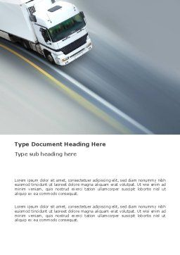 Freight Service Word Template, Cover Page, 03527, Cars/Transportation — PoweredTemplate.com