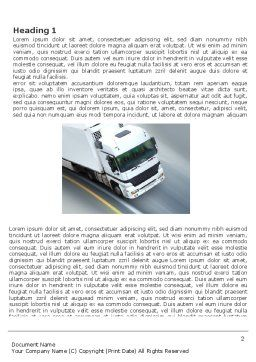 Freight Service Word Template, First Inner Page, 03527, Cars/Transportation — PoweredTemplate.com