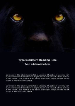 Wild Eyes Word Template, Cover Page, 03528, Agriculture and Animals — PoweredTemplate.com