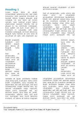 Blue Code Word Template, First Inner Page, 03529, Technology, Science & Computers — PoweredTemplate.com