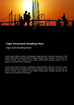 Builders Word Template, Cover Page, 03530, Construction — PoweredTemplate.com