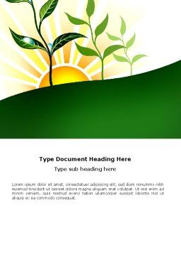 Growing Word Template, Cover Page, 03531, Nature & Environment — PoweredTemplate.com