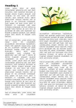 Growing Word Template, First Inner Page, 03531, Nature & Environment — PoweredTemplate.com