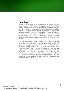 Growing Word Template, Second Inner Page, 03531, Nature & Environment — PoweredTemplate.com
