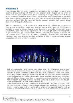 Night City Word Template, First Inner Page, 03533, Construction — PoweredTemplate.com