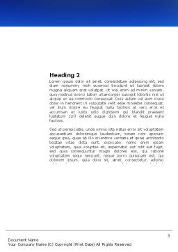 Mountain Lake Word Template, Second Inner Page, 03534, Nature & Environment — PoweredTemplate.com