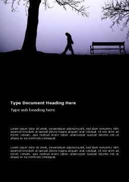 Evening Word Template Cover Page