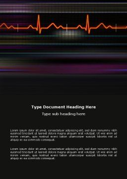 Electrocardiography Word Template, Cover Page, 03538, Medical — PoweredTemplate.com