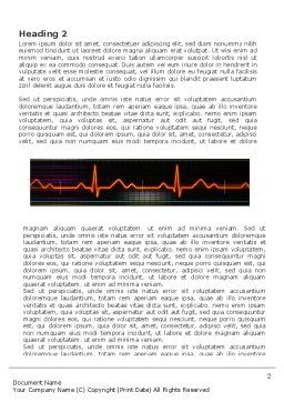 Electrocardiography Word Template, First Inner Page, 03538, Medical — PoweredTemplate.com