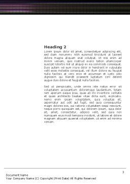 Electrocardiography Word Template, Second Inner Page, 03538, Medical — PoweredTemplate.com