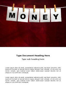 Money Cleaning Word Template, Cover Page, 03541, Financial/Accounting — PoweredTemplate.com