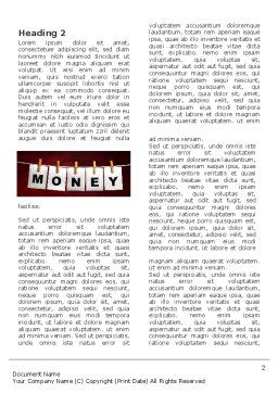 Money Cleaning Word Template First Inner Page