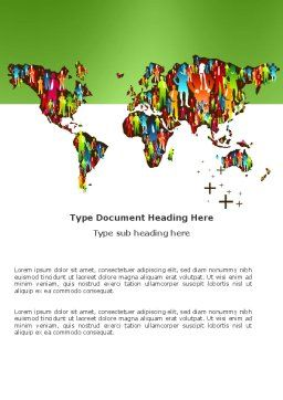 World Diversity Word Template, Cover Page, 03543, Global — PoweredTemplate.com