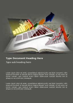 Diagram In The Book Word Template, Cover Page, 03544, Consulting — PoweredTemplate.com