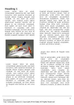 Diagram In The Book Word Template, First Inner Page, 03544, Consulting — PoweredTemplate.com