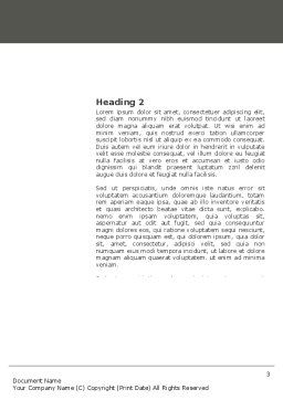Diagram In The Book Word Template, Second Inner Page, 03544, Consulting — PoweredTemplate.com