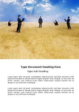 Freedom Of Movements Word Template, Cover Page, 03547, Business Concepts — PoweredTemplate.com