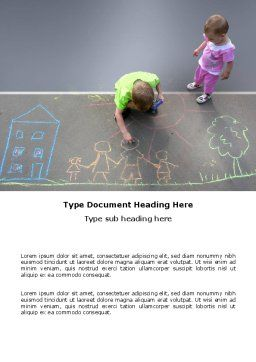 Street Drawings Word Template Cover Page