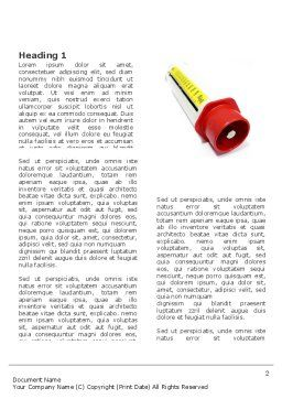 Flow Meter Word Template, First Inner Page, 03558, Consulting — PoweredTemplate.com
