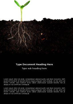Life Sprouts Word Template, Cover Page, 03562, Nature & Environment — PoweredTemplate.com