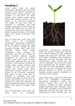 Life Sprouts Word Template, First Inner Page, 03562, Nature & Environment — PoweredTemplate.com
