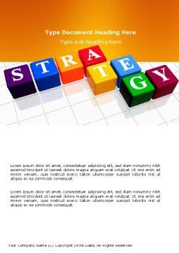 Strategy Word Template, Cover Page, 03563, Business Concepts — PoweredTemplate.com