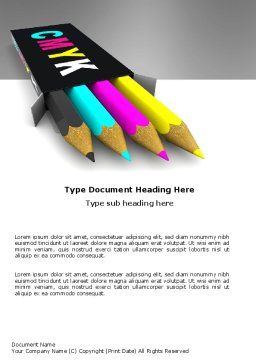 CMYK Colors Word Template Cover Page