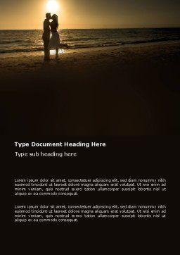Romantic Evening Word Template, Cover Page, 03570, Religious/Spiritual — PoweredTemplate.com