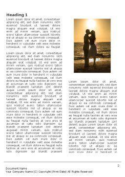 Romantic Evening Word Template, First Inner Page, 03570, Religious/Spiritual — PoweredTemplate.com