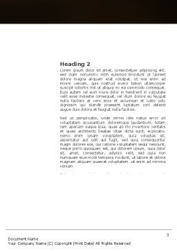 Romantic Evening Word Template, Second Inner Page, 03570, Religious/Spiritual — PoweredTemplate.com
