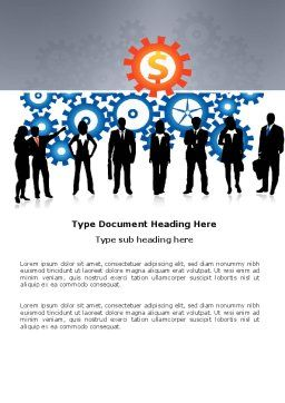 Business Workers Word Template, Cover Page, 03578, Consulting — PoweredTemplate.com
