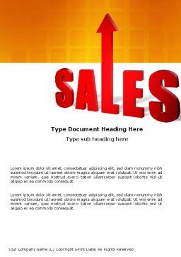 Sales Word Template, Cover Page, 03579, Business — PoweredTemplate.com